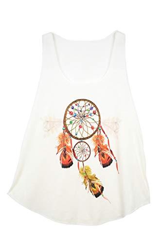 GL BOUTIK Camiseta Sin Mangas Para Mujer - Atrapasueños - Estilo Etnico - Dreamcatcher Woman Tank-Top