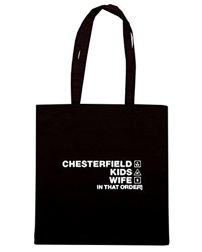 T-Shirtshock - Borsa Shopping WC1139 chesterfield-kids-wife-order-tshirt design Nero