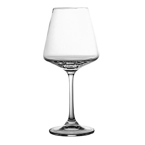 Crystaljulia Weingläser, Glas, 360ml, 10 x 10 x 20,5 cm, 6-Einheiten
