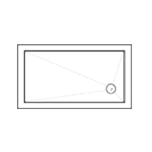 Luxury 900 x 800 Low Profile Stone Resin Shower Trays 40mm Low Profile Slimline
