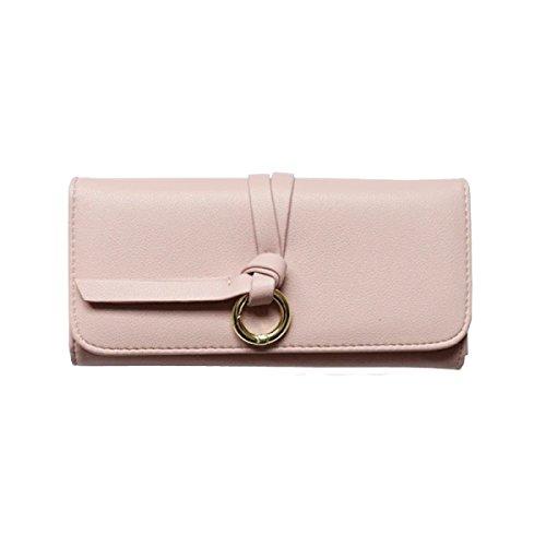 Di Modo Delle Signore Di Grande Capienza Portafoglio Multi-color Pink