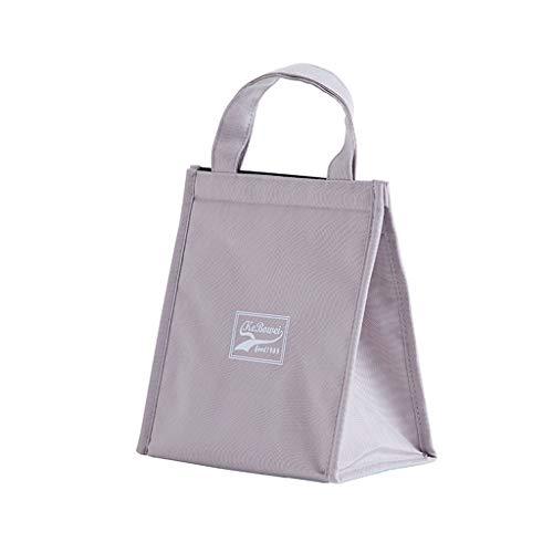 Aploa Einkaufstasche Oxford Tuch Isolierte Lunchpaket Lebensmittel Aufbewahrungstasche Tote Für Frauen Männer Kinder Aufbewahrungsbox Aufbewahrungstasche (S, Grau)