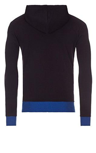 WOOSAH Herren Sweatshirt Kapuzenpullover Garen black / blue (2008)