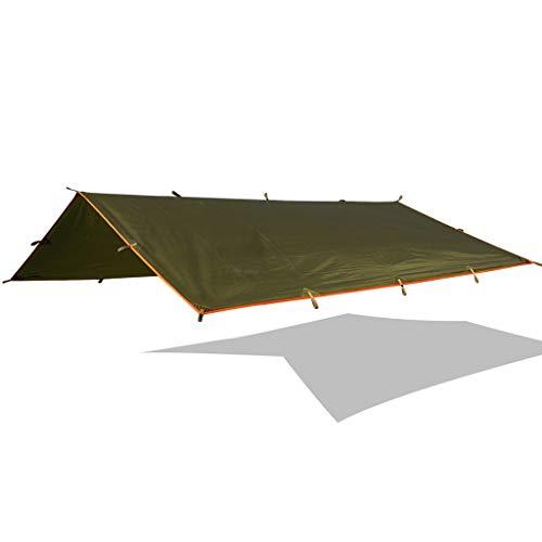 CYLQ Hängemattenplane Camping Zelt Mobiles Camping Hängematte Regenschutz Im Freien Mit Wanderrucksack Shelter Rain Tarp Leichtes Ripstop-Geweben (Color : Green)