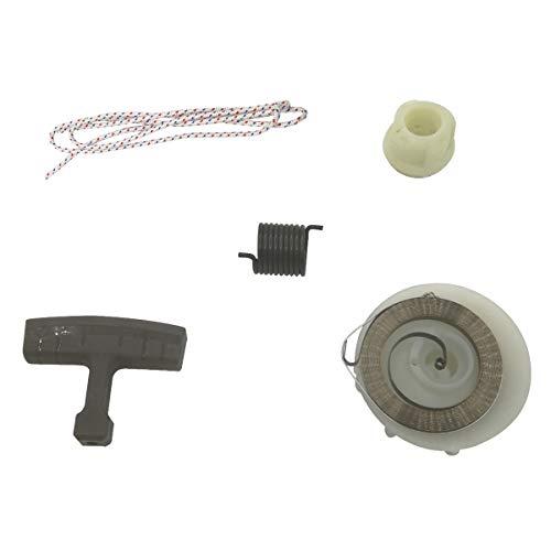 Shioshen Muelle arranque polea eje cuerda reparación ajuste Kit HUSQVARNA motosierra 137 142 E 235 236 240 E
