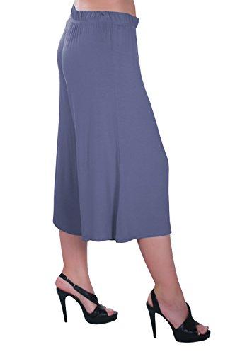 Eyecatch - Chloe Aux Femmes Vaste Jambe Moderne Pantalon Dames Culottes Short Pantalons Denim Bleu