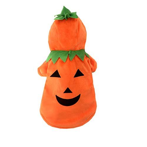 (YAOBAO Hund Katze Halloween Kostüme, Lustige Haustier Cosplay Kostüm, Welpen Fleece Hoodie Mantel Kleidung,XXL)