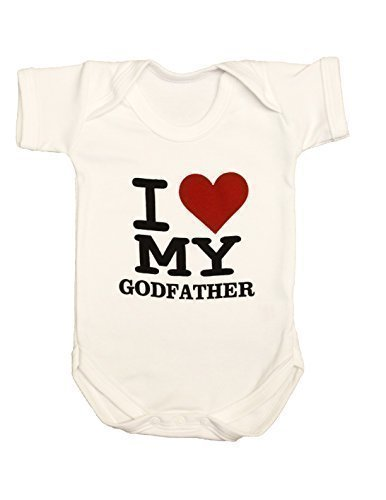 I Love My Padrino Body de bebé camiseta, recién nacido regalo Pelele