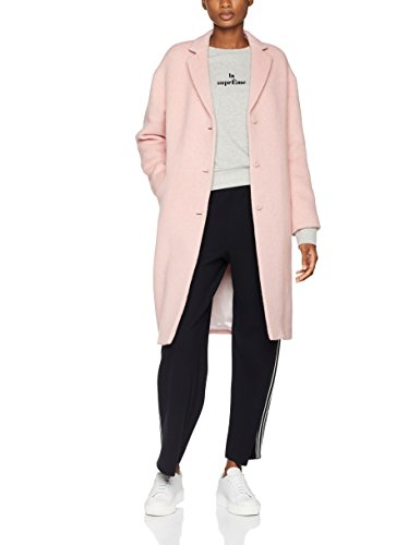 Filippa K Damen Parker Plush Wool Coat Mantel, Rosa (Powder Pink), 10 (Herstellergröße: Medium) Knee Length Down Coat