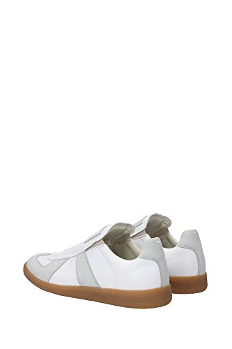 S37WS0282SY0102101 Martin Margiela Sneakers Homme Cuir Blanc Blanc