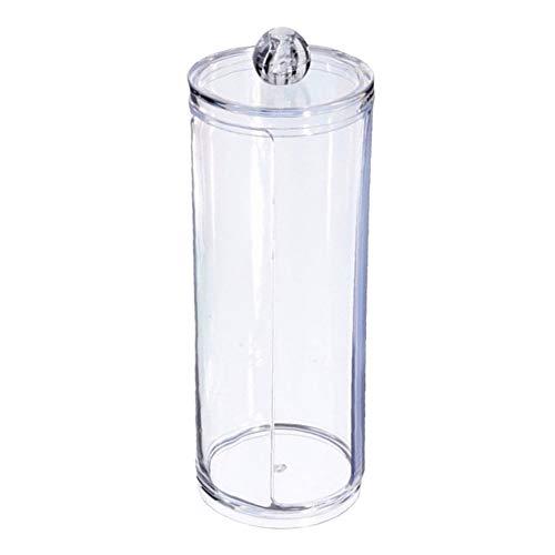 Daorier Acrylique Boite à Coton Tiges Holder Box Boîte de Rangement Boîte de Rangement Maquillage Cosmétique pour Tous Vos Cosmétiques Style Artistique Transparent