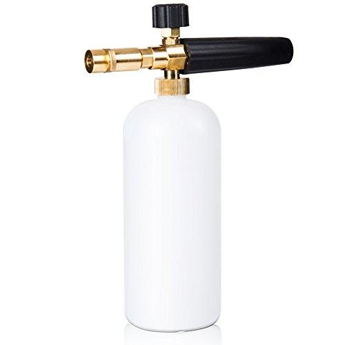 ELENKER Schaumdüse Schaumlanze mit Adapter für Kärcher K-Serie Hochdruckreiniger, Zubehör für Waschen Gun, 1 Liter