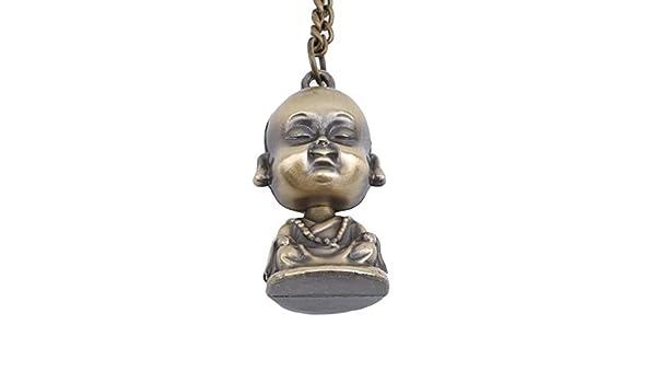 YOIL Perles en bois d/écor/é Bouddha Pendentif Porte-cl/és Porte-cl/és