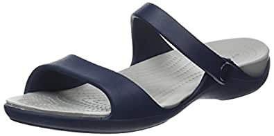 Crocs Women's Cleo V W Sandals, Blue (Navy/Light Grey), 3 UK (5 US)