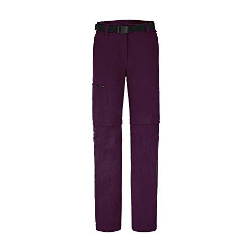 MAIER SPORTS T-Zipp-off Funktionshose Nata aus 90% PA 10% EL in 23 Größen, Outdoorhose/ Wanderhose/ Bermuda inkl. Gürtel, bi-elastisch, schnelltrocknend und wasserabweisend Potent Purple