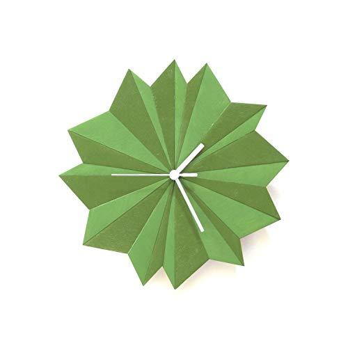 Origami Grün - 29cm einzigartige Wanduhr mit 2 verschiedenen Schattierungen von Grün