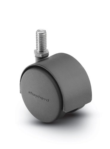 Gewinde Stem Rollen (Home & Tools Shepherd Pacer Series Lenkrolle aus druckgegossenem Nylon, 50 mm Durchmesser, 1/4