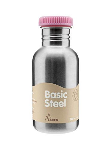 Laken Botella de Acero Inoxidable 0,5L Tapón Rosa