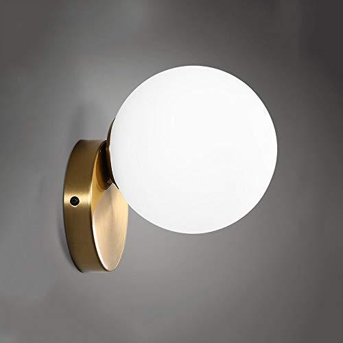 HSB La originalidad de la esfera de cristal pequeña pared del estilo americano dormitorio de la lámpara...