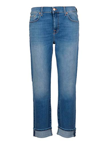 7 For All Mankind Damen JSDTU580 Blau Baumwolle Jeans