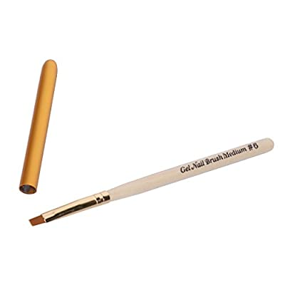 Elite99 No.6 UV Gel Brush Pen Wood Handle Nylon Hair Nail Lacquer Soak Off Nail Art Tools DIY Manicure Varnish