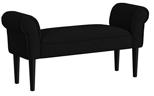 Homcom Banc Banquette Design Contemporain accoudoirs courbés Grand Confort 102L x 31l x 51H cm Noir