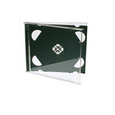 Chroma Products–XP Premium Grade Doppel CD Jewel Case mit schwarzem Tray, 25Stück