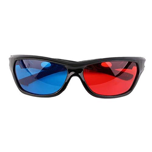 Lunettes 3D Cadre Noir Bleu Rouge pour DVD De Jeu De Film Dimensionnel D'anaglyphe