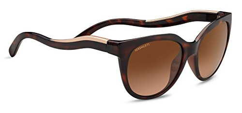 Serengeti Eyewear Erwachsene Lia Sonnenbrille, Shiny Dark Tortoise, Large