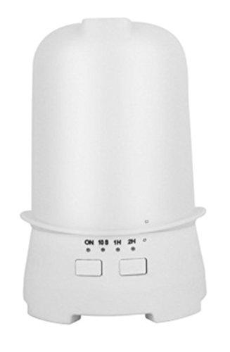 JASNO Créatif Voiture Humidificateur Diffuseur USB 120 ML Mini Portable LED Coloré Aroma Diffuseur Convient pour Nuit Bureau Yoga Spa Chambre,White