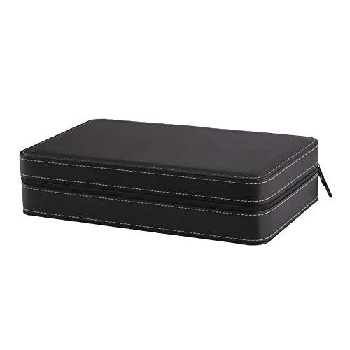 WOSHINIMA 12-Slot-Uhrenbox Wickler Aufbewahrungsbox Reißverschluss Armband Verpackungsbehälter Display-Ständer grau