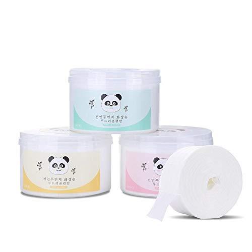 600 PCS/Sac Démaquillant nettoyant en profondeur lingettes humides jetables lingettes hydratantes en coton pour les yeux, lingettes hydratantes Tampons à maquillage doux - Blanc