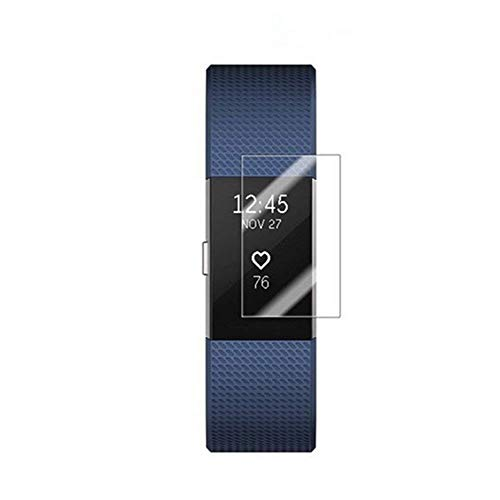AchidistviQ 3 Stücke Full Cover Armband Gehärtetes Glas Displayschutzfolie für Fitbit Charge 2