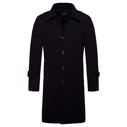 Mantel Herren TWBB Solide Männer Mens Slim Fit Kapuze Stricken Pullover Mode Cardigan Lange Trenchcoat Jacke
