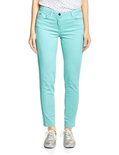Cecil Damen Victoria Tight Fit Hose, neo Mint, W32/L28(Herstellergröße:32) -