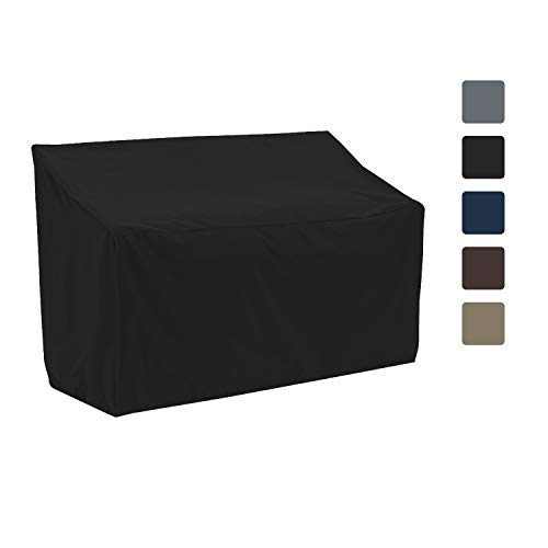 Patio Bench Cover - Waterproof, Air Vents, 100% UV-Resistant, 12 Oz 1000 D PVC Coated, Outdoor Furniture Bench Covers with Air Pockets & Drawstring for Snug fit (60\