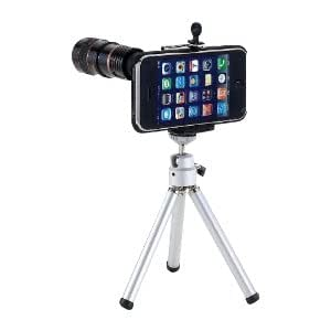 Black 8X Optical Zoom Telescope Camera Lens + Tripod For Apple iPhone 4 4G New