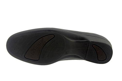 Chaussure femme confort en cuir Piesanto 7610 mocassin casual comfortables amples Natur Negro
