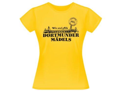Dortmunder Mädels T-Shirt Dortmund Fanartikel Fanshirt Shirt 100{6d8c65dc967af7e817252f7b2029da1cb5e26ce7e3eb18bdbf0c1a2a05d81a79} gelb, wählen:XS