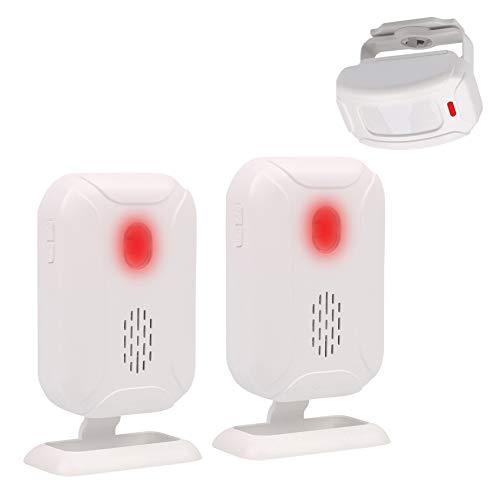 Mengshen Bewegungsmelder Alarm, Türklingel Alarm für Haustür/Einfahrt/Zuhause/Laden/Briefkasten, Alarmanlage mit 1 Sensor und 2 Empfänger - YBQ041