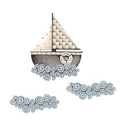 Preisvergleich Produktbild Wallies Debbie Mumm Sail Away Wall Decals by Wallies