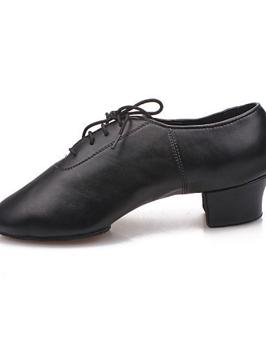 ShangYi Chaussures de danse (Noir) - Non personnalisable - Gros talon - Similicuir - Moderne