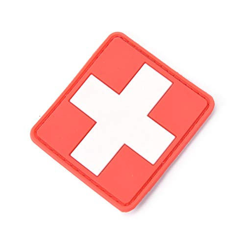 Pvc Patch - 1pc 3d Pvc Rubber Red Cross Flag Of Switzerland Swiss Patch Medic Paramedic Tactical Army Morale - Army Jackets Paramedic Loop Panda Badge Cross Hook Shirt Rubber Switzerland -
