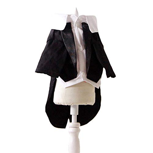 FLAdorepet Hunde-Smoking Hund Pet Formale Jacke Kleidung Chihuahua Hund Prince Kostüm, 18=XXL, schwarz -