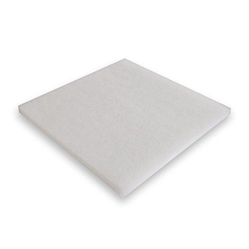 Tissu ouaté Synfil 300 BLANC Dimensions: 50x50x2.5cm Filtre Bassin et Aquarium