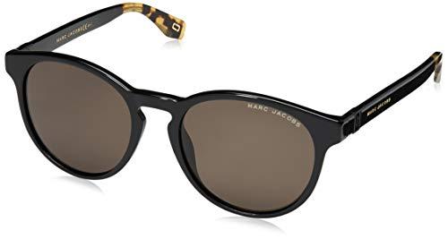 Marc Jacobs MARC 351/S 807 Black MARC 351/S Round Sunglasses Lens Category 3 Size 52mm