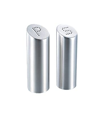 Zeller 27341 2-Piece Salt and Pepper Cellar Set / Stainless Steel 4 x 11.5 cm by Zeller Present Handels GmbH