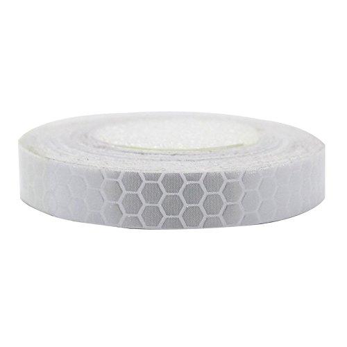 Maiqiken 1 Rolle Reflektor Streifen Weiße Selbstklebende Für Auto LKW Anhänger Sicherheit Warnung Reflektorband Tape Aufkleber 1CM x 5M (Reflektierende Lkw-tape)