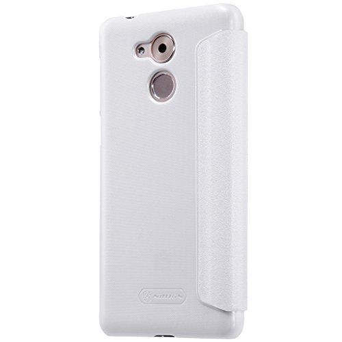 HuaWei P10 Tasche Hülle - Glänzen Flip Schutzhülle für HuaWei P10 - Schwarz Weiß