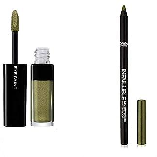 L'Oréal Paris Color Riche Sombra de Ojos/ombrés S6Jungle Jade + lápiz Khol & contour mineral Bourjois, color03verde espuma (kit de 2productos)